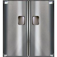 Curtron Service-Pro Series 30 Double Aluminum Swinging Traffic Door - 48 inch x 96 inch Door Opening