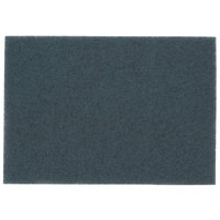 3M 5300 14 inch x 20 inch Blue Cleaner Pad - 10/Case