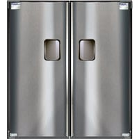 Curtron Service-Pro Series 30 Double Aluminum Swinging Traffic Door - 78 inch x 84 inch