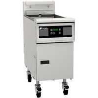 Pitco® SG14SD Natural Gas 40-50 lb. Floor Fryer with Digital Controls - 110,000 BTU