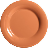 GET WP-5-PK Pumpkin Diamond Harvest 5 1/2 inch Wide Rim Plate - 48/Case