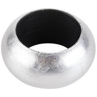 Silver 2 3/8 inch Round Acrylic Napkin Ring