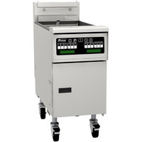 Pitco SG14TSC 20-25 lb. Split Pot Gas Floor Fryer with Intellifry Computer Controls - 100,000 BTU