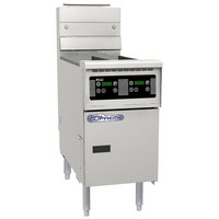 Pitco SE14T-D 40-50 lb. Split Pot Solstice Electric Floor Fryer with Digital Controls - 240V, 1 Phase, 17kW