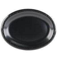 Genpak LAM11-3L Elite 8 1/2 inch x 11 1/2 inch Black Laminated Foam Platter - 500/Case