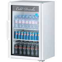 Turbo Air TGM-7SD Super Deluxe White Countertop Display Refrigerator with Swing Door