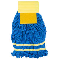 Small 15 oz. Microfiber String Mop with Scrubber and 5 inch Band - Yellow