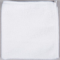 12 inch x 12 inch White Microfiber Cleaning Cloth   - 12/Pack