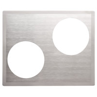 Vollrath 8250316 Miramar Stainless Steel Double Well Adapter Plate with Satin Finish Edge for Two Casserole Pans