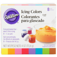 Wilton 601-5577 Variety Pack Gel Food Coloring .5 oz bottles - 8/Pack