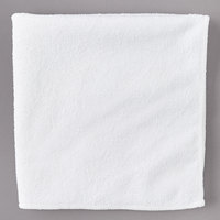 Carlisle 3633402 16 inch x 16 inch White Terry Microfiber Cleaning Cloth - 12/Case