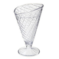 GET ICM-26-CL 8 oz. Clear Plastic Waffle Cone Cup   - 24/Case