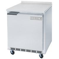 Beverage-Air WTF24 24'' Single Door Shallow Depth Undercounter Worktop Freezer - 5.8 cu. ft.