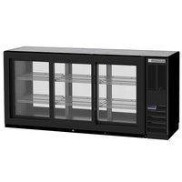 Beverage-Air BB72HC-1-GS-PT-B 72 inch Black Glass Door Pass-Through Back Bar Refrigerator
