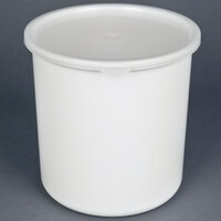 Carlisle 030202 2.7 Qt. White Classic Crock with Lid - 6 / Case