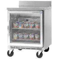 Beverage-Air WTF24AHC-25 24' Single Glass Door Worktop Freezer - 7 cu. ft.