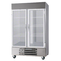 Beverage-Air HBF44-1-G-LED 47 inch Horizon Series Two Section Glass Door Reach-In Freezer with LED Lighting