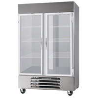 Beverage-Air RB49-1G-LED 52 inch Vista Series Two Section Glass Door Reach-In Refrigerator - 49 cu. ft.