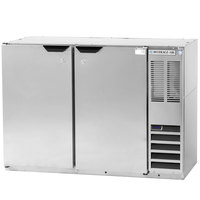 Beverage-Air BB48Y-1-S-PT 48 inch Stainless Steel Solid Door Pass-Through Back Bar Refrigerator