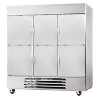 Beverage-Air FB72-5HS 75 inch Vista Series Three Section Solid Half Door Reach-In Freezer - 72 cu. ft.