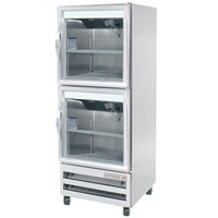 Beverage-Air RI18HC-HG 27 inch One Section Glass Half Door Reach-In Refrigerator - 18 cu. ft.