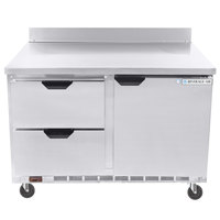 Beverage-Air WTFD48AHC-2 48 inch Two Drawer, One Door Worktop Freezer