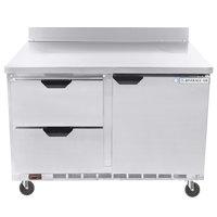 Beverage-Air WTFD48AHC-2 48 inch Two Drawer / One Door Worktop Freezer - 13.9 cu. ft.
