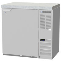 Beverage-Air BB36HC-1-S-27 36 inch Stainless Steel Solid Door Back Bar Refrigerator with 2 inch Stainless Steel Top