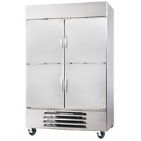 Beverage-Air HBR44HC-1-HS 47 inch Horizon Series Two Section Solid Half Door Reach-In Refrigerator with LED Lighting
