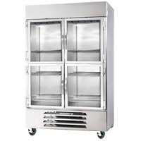 Beverage-Air HBR44-1-HG-LED 47 inch Horizon Series Two Section Glass Half Door Reach-In Refrigerator with LED Lighting