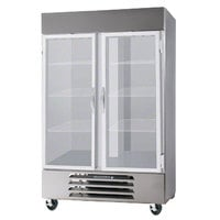 Beverage-Air FB49-1G-LED 52 inch Vista Series Two Section Glass Door Reach-In Freezer - 49 cu. ft.