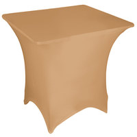 Marko EMB5026S3030049 Embrace 30 inch Square Sandalwood Spandex Table Cover
