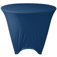 Marko EMB5026R48062 Embrace 48 inch Round Cadet Blue Spandex Table Cover