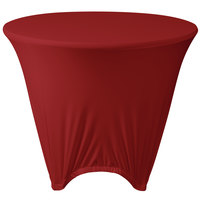 Marko EMB5026R48046 Embrace 48 inch Round Burgundy Spandex Table Cover