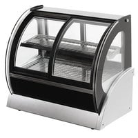 Vollrath 40880 36 inch Curved Refrigerated Countertop Display Cabinet with Front Access
