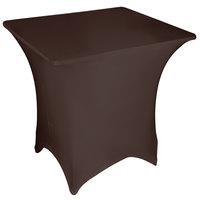 Marko EMB5026S3636515 Embrace 36 inch Square Chocolate Spandex Table Cover