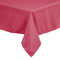 Intedge 36 inch x 36 inch Square Hot Pink 100% Polyester Hemmed Cloth Table Cover
