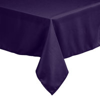 Intedge 45 inch x 45 inch Square Purple 100% Polyester Hemmed Cloth Table Cover