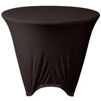 Marko EMB5026R48633 Embrace 48 inch Round Dark Lava Spandex Table Cover
