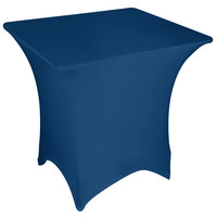 Marko EMB5026S3636062 Embrace 36 inch Square Cadet Blue Spandex Table Cover