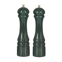 Chef Specialties 10802 Professional Series 10 inch Customizable Autumn Hues Forest Green Pepper Mill and Salt Mill Set