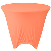 Marko EMB5026R48030 Embrace 48 inch Round Peach Spandex Table Cover