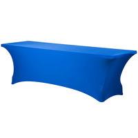 Snap Drape CC830-ROYAL BLUE Contour Cover 96 inch x 30 inch Royal Blue Spandex Table Cover