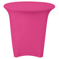 Snap Drape CN420R3030015 Contour Cover 30 inch Round Magenta Spandex Table Cover