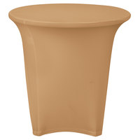 Marko EMB5026R24049 Embrace 24 inch Round Sandalwood Spandex Table Cover