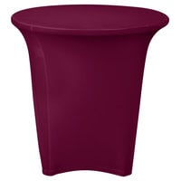 Snap Drape CC30R-BURGUNDY Contour Cover 30 inch Round Burgundy Spandex Table Cover
