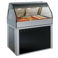 Alto-Shaam EU2SYS-48 BK Black Cook / Hold / Display Case with Curved Glass and Base - Full Service, 48 inch