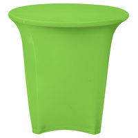 Snap Drape CN420R3030730 Contour Cover 30 inch Round Lime Green Spandex Table Cover