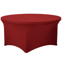 Marko EMB5026R54046 Embrace 54 inch Round Burgundy Spandex Table Cover