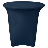 Snap Drape CC30R-NAVY Contour Cover 30 inch Round Navy Spandex Table Cover
